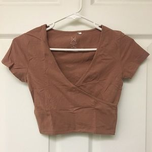 SURPLICE CROP TOP